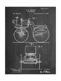 Antique Automobile Patent 1895 Art