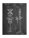 Railroad Crossing Signal Patent Posters