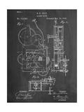 Vintage Alarm Clock Patent 1885 Lámina giclée