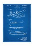 Howard Hughes Airplane Patent Giclee Print