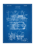 Steam Locomotive Patent Giclee Print