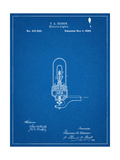 Thomas Edison Light Bulb Patent Art