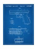 Glock Pistol Patent Posters