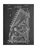Vintage 1888 Calculator Patent Plakater