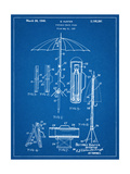 Vintage Beach Umbrella Patent1937 Print
