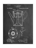 Vintage Coffee Pot Patent Lámina giclée premium