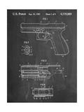 Glock Pistol Patent Stampa giclée