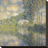 Poplars on the Epte, 1891 Stretched Canvas Print by Claude Monet