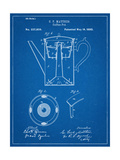 Vintage Coffee Pot Patent Poster