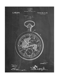Pocket Watch Patent Print