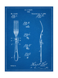 Dinner Fork Patent Prints