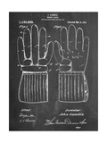 Hockey Glove Patent Poster