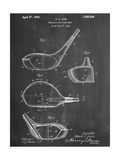 Golf Club Driver Patent Plakaty