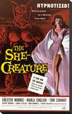 The She-Creature Stretched Canvas Print