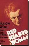 Mujer de pelo rojo Reproducción en lienzo de la lámina