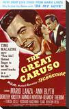 The Great Caruso Stretched Canvas Print