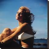 Raquel Welch Stretched Canvas Print