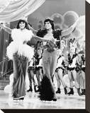 Donny and Marie Stretched Canvas Print