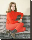 Claudine Auger Stretched Canvas Print