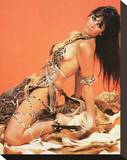 Caroline Munro - At the Earth's Core Stretched Canvas Print