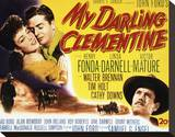 My Darling Clementine Stretched Canvas Print