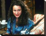 Andie MacDowell Stretched Canvas Print