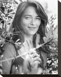 Charlotte Rampling - Corky Stretched Canvas Print