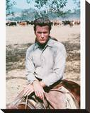 Clint Eastwood - Rawhide Stretched Canvas Print
