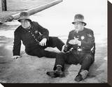 Abbott and Costello Meet the Keystone Kops Stretched Canvas Print