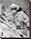 Clayton Moore - The Lone Ranger Stretched Canvas Print