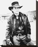 Christian Slater - Young Guns II Stretched Canvas Print