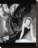 Cat People Stretched Canvas Print