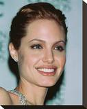 Angelina Jolie Stretched Canvas Print