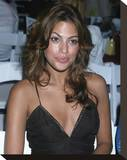 Eva Mendes Stretched Canvas Print