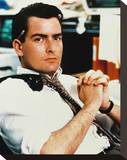 Charlie Sheen - Wall Street Stretched Canvas Print