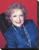 Betty White Stretched Canvas Print