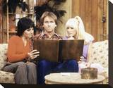 Three's Company Stretched Canvas Print