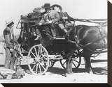 Stagecoach Stretched Canvas Print