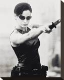 Carrie-Anne Moss Stretched Canvas Print