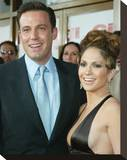 Jennifer Lopez And Ben Affleck Stretched Canvas Print