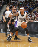 Mar 21, 2014, San Antonio Spurs vs Sacramento Kings - Isaiah Thomas, Patty Mills Photographic Print by Rocky Widner