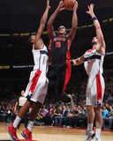 Feb 18, 2014, Toronto Raptors vs Washington Wizards - DeMar DeRozan, Trevor Ariza Photographic Print by Ned Dishman