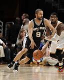 Mar 4, 2014, San Antonio Spurs vs Cleveland Cavaliers - Tony Parker Photographic Print by David Liam Kyle