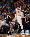 Mar 28, 2014, Sacremento Kings vs Oklahoma City Thunder - Serge Ibaka, Reggie Evans Photographic Print by Layne Murdoch
