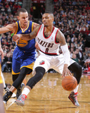 Mar 16, 2014, Golden State Warriors vs Portland Trail Blazers - Damian Lillard Photographic Print by Sam Forencich