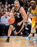 Mar 28, 2014, San Antonio Spurs vs Denver Nuggets - Tony Parker Photographic Print by Garrett Ellwood
