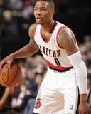 Mar 16, 2014, Golden State Warriors vs Portland Trail Blazers - Damian Lillard Photographic Print by Cameron Browne