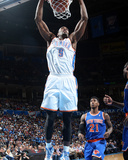 Feb 9, 2014, New York Knicks vs Oklahoma City Thunder - Serge Ibaka Photographic Print by Layne Murdoch