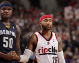 Mar 30, 2014, Memphis Grizzlies vs Portland Trail Blazers - Mo Williams, Zach Randolph Photo by Cameron Browne