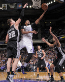 Mar 21, 2014, San Antonio Spurs vs Sacramento Kings - Rudy Gay, Tiago Splitter Photographic Print by Rocky Widner